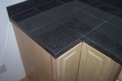 Iu0027ve Installed Countertops With Three Different Edgings: Bull Nosed Tile  With A Cut Skirt Piece On The Front Edge